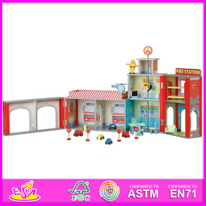 2014 Fashion New Wooden Dollhouse Model Toy, Wholesale DIY Wooden Dollhouse Toy, 3D Colorful Baby Wooden Dollhouse Set Factory W06A048 pictures & photos