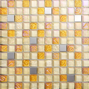 Fashion Design Glass Mosaic with Metal for 2016 House Decoration