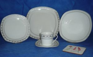 Magnesia Dinnerware, Magnesia Plate, Cup with Saucer