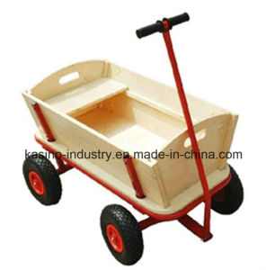 Mobile Kid′s Wooden Food Cart/Beach Wagon Tc1812 pictures & photos