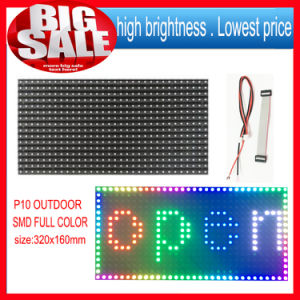 High Brightness P10 SMD Outdoor 1 Unit LED Module Full Color Programmable LED Scrolling Display Size Is 320*160mm