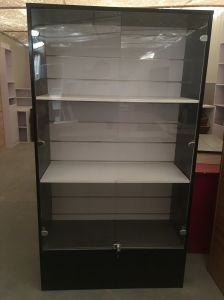 Wood Material Display Cabinet With Glass And Lock