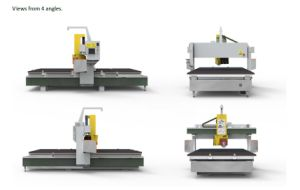 5 Axis CNC Bridge Saw for Stone pictures & photos