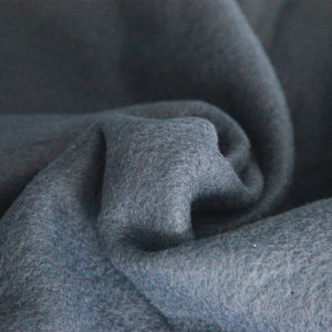 Double-Sided Velvet Plain Dyed Fleece Solid Dyed Polyester Fleece Gray Polar Fleece Fabric pictures & photos