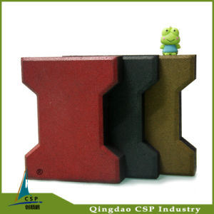 160X200mm Size Outdoor Recycled Rubber Floor Paver