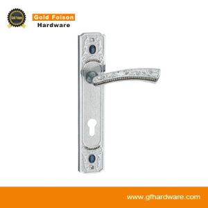 High Quality Zinc Alloy Door Handle on Plate (P151-Z142 CP) pictures & photos