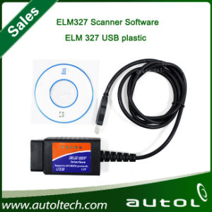 Elm327 Scanner Software USB Plastic Scan Tool/Elm327 Trouble Codes Reader pictures & photos