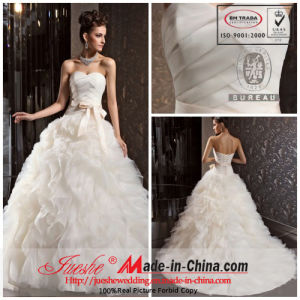 Brand Style New Design Ruffled and Layers Suzhou Wedding Dress (CH324)