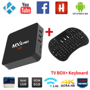 2017 New Mxq PRO Android TV Box 17.0 Kodi Pre-Installed Smart TV Box with Wireless Keyboard