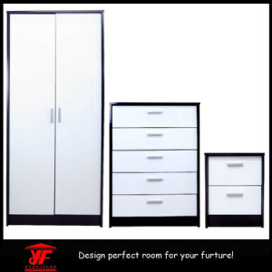China Popular Mirror Double Color Wardrobe Dressing Table Design