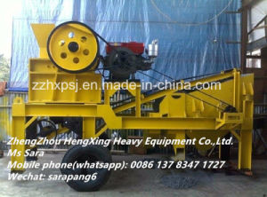Diesel Powered Mobile Jaw Crusher and Vibrating Screen pictures & photos