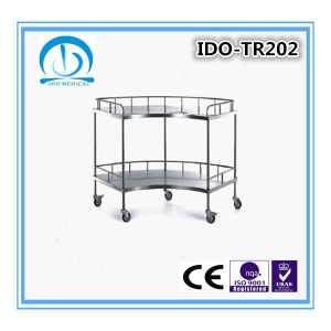 Ido-Tr202 Ce ISO Approved Stainless Steel Hospital Trolley