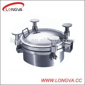 Round Sanitary Stainless Steel Tank Manhole Cover pictures & photos