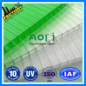 UV Coated Colored Polycarbonate Sheet, Double Layer Polycarbonate Hollow Sheet pictures & photos