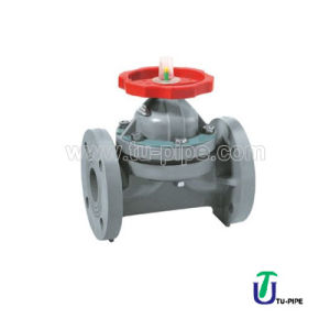 Industrial CPVC Flanged Diaphragm Valves JIS pictures & photos