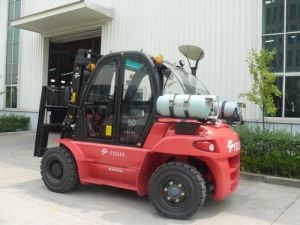 Feeler 5t LPG Forklift with Cabine A/C Heater pictures & photos