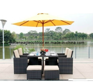 Rattan Wicker Cube Modern Patio Furniture (FP0150)