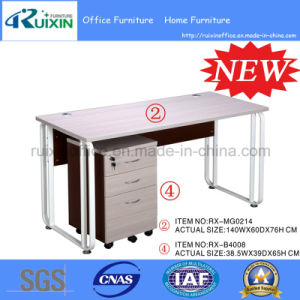 Modern Cheap Wooden&Steel Office Computer Desk (RX-MG0214&RX-B4008)