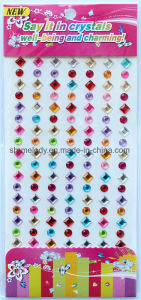 Multi-Colored Rhinestone Borders/Gem Stick-Ons/Cell Phone Stickers pictures & photos