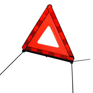Emergency Broken Windows Car Warning Triangle