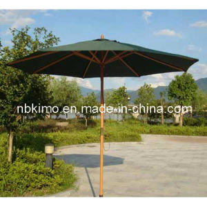 Dia. 270cm Wooden Garden Umbrella / Outdoor Furniture Patio Umbrella 22304 (Dia. 270cm)