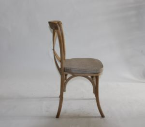 Antique Color Oak Wooden Cross Back Chair at a Lowest Price pictures & photos