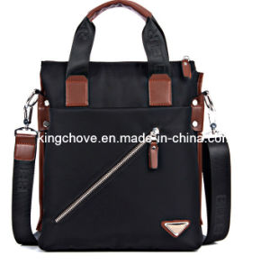 Newly Fashion Black Nylon with PU Trimming Men Bag (KCM04)
