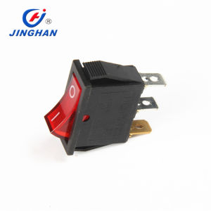 on/off Large Rectangle Rocker Switch LED Lighted Car Dash Boat 3-Pin Spst DC12V