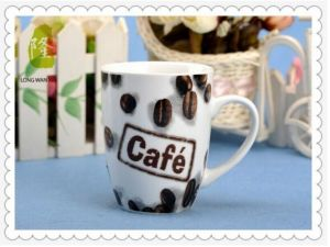 11 Oz Custom Logo Glossy Porcelain Coffee Mug C Handle for Sublimation