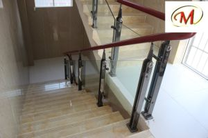Titanium and Sanding Finish Stainless Steel Stair Railing Pillars pictures & photos