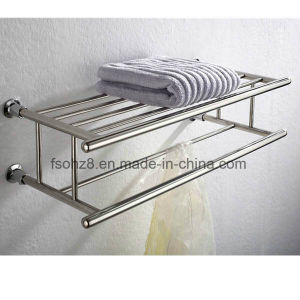 Wall Mounted Stainless Steel Bathroom Towel Rack with Rod (803) pictures & photos