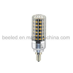 LED Corn Light E12 10W Warm White Silver Color Body LED Bulb Lamp