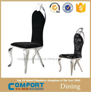 Upholstered Fabric Black Metal Dining Chair Furniture Online