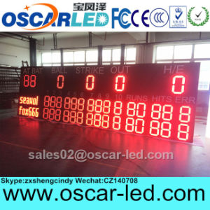 Hot Sale Outdoor Wireless Remote Control LED Sports Stadium Sign LED Baseball Scoreboard