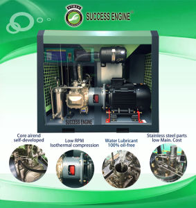 Ce Certificated Oil-Free Water Lubricated Air Compressor pictures & photos