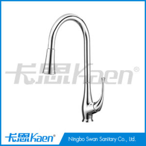 Brass Chrome Kitchen Faucet with Pull out spray pictures & photos