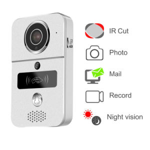 720p WiFi Smart Video Intercom Camera Doorbell with Door Chime and Loud Speaker