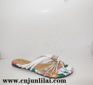 Slippers with Colorful Print PU