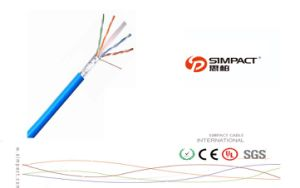 UL, CE, RoHS Apporved Self-Extinguishing LAN Cable FTP Cat5e pictures & photos