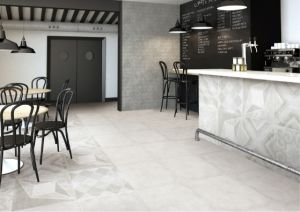 Concrete Cement Style Glazed Porcelain Floor Tile for Floor and Wall (FN01)