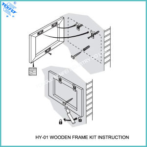 Wood Picture Frame Hanging Kits Hy-01 pictures & photos