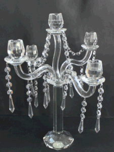 Crystal Candle Holder with Five Posters for Holiday Decoration pictures & photos