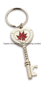 Zinc Alloy Key Shaped Keychain Souvenir with Bottle Opener pictures & photos