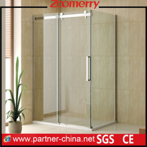 Rectangle Frameless 10mm Thickness Glass Sliding Shower Cubicles (WK1131B)