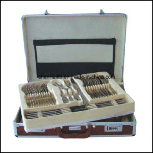 72 84PCS Stainless Steel Cutlery Set Aluminum Box