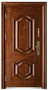 Steel Door Single Door Sunscreen Painting Exterior Door (FD-G151) pictures & photos