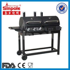 3in1 Charcoal Gas BBQ Grill with Ce Approved (KLD5003) pictures & photos