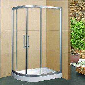 Aluminium Frame and Tempered Glass Panel Bath Shower Enclosure Ms028