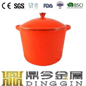 Red Enameled Cast Iron Hot Pot pictures & photos