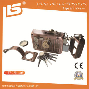 Security High Quality Door Rim Lock (T696H-A6) pictures & photos